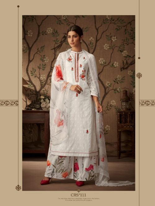Esta-Presents-Cressa-Cotton-Dobby-Embroidery-Swarovski-Work-Suits-CRS-111