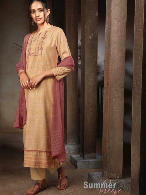 Ganga-Presents-Sava-Summer-Breeze-Cotton-Slub-Printed-With-Embroidery-Suits-1187