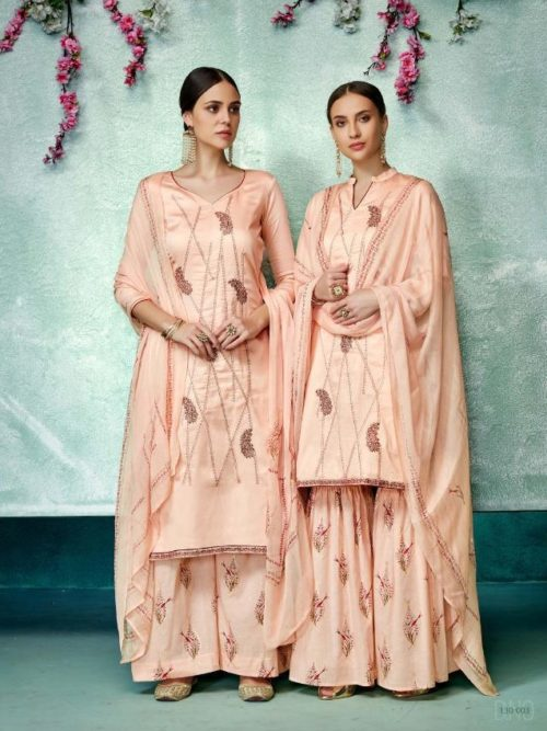 Pink Pure Zam Cotton With Designer Work Suit