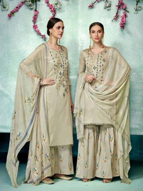 Green Pure Zam Cotton With Designer Work Suit