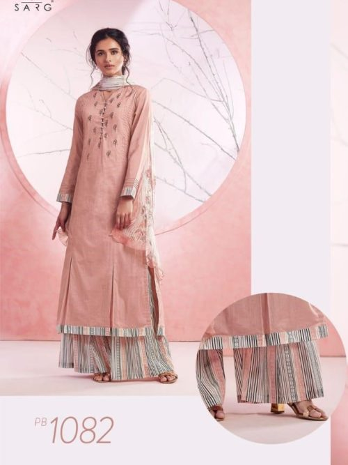 Baby Pink Cotton Lawn Digital Print With Embroidery Suit