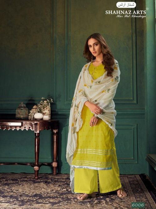 Light Green Pure Cotton Printed With Handwork Suit