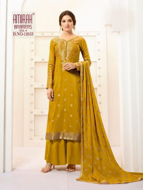 Pure Banarasi Silk With Work Suit