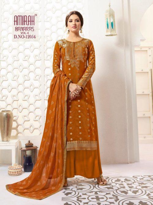 Pure Banarasi Silk With Work Suit