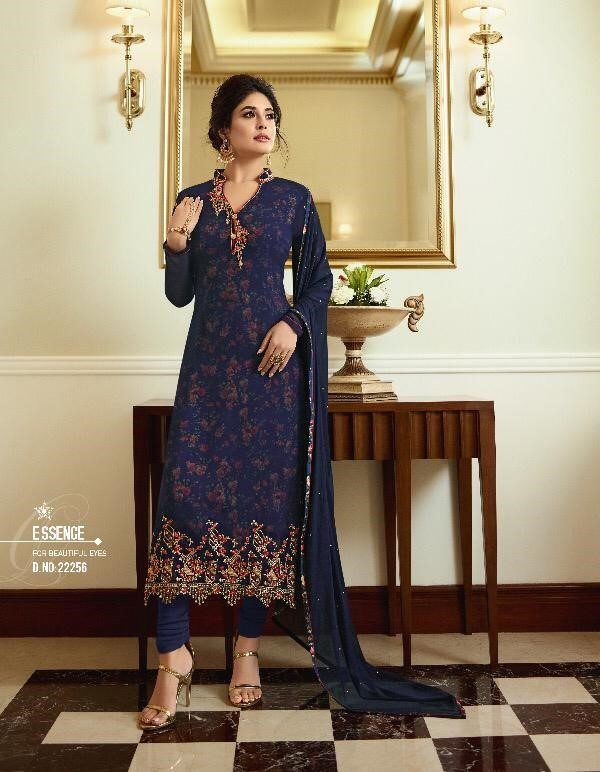 Georgette With Printed Inner Suit