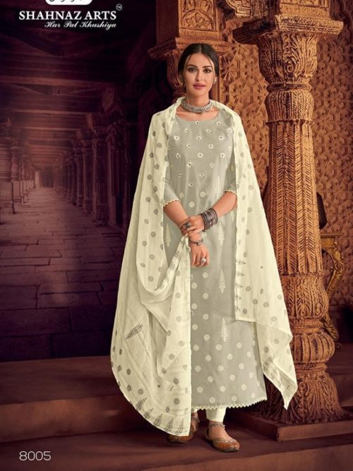 Pure Lawn Block Print With Handwork Suit