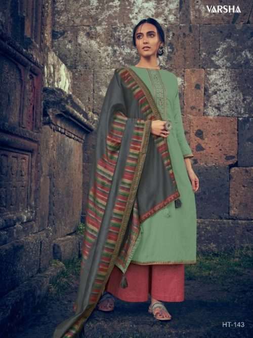Muslin Solid With Embroidery Salwar Suit