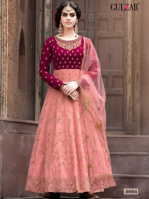 Faux Georgette With Work Indo Western Anarkali D.No 8004