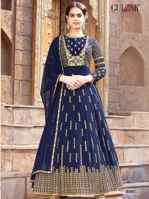 Faux Georgette With Work Indo Western Anarkali D.No 8005
