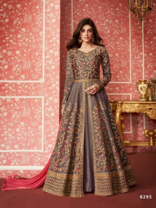 Silk Anarkali Salwar Suit