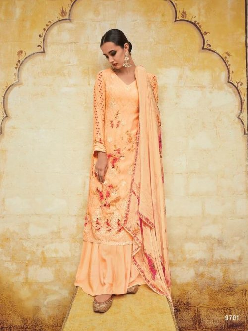 Kimora Heer Vol 54 Georgette With Embroidery Suit D.No 9701