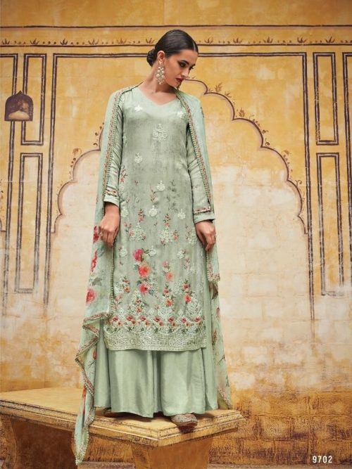 Kimora Heer Vol 54 Georgette With Embroidery Suit D.No 9702