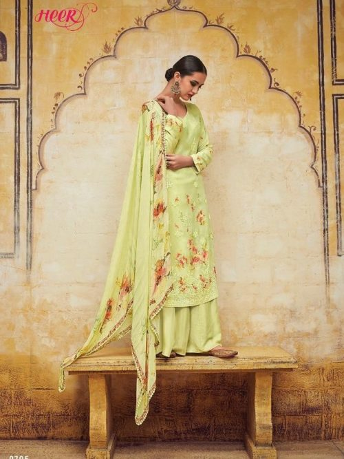 Kimora Heer Vol 54 Georgette With Embroidery Suit D.No 9705