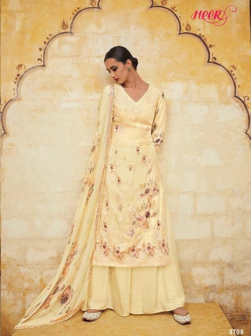 Kimora Heer Vol 54 Georgette With Embroidery Suit D.No 9708