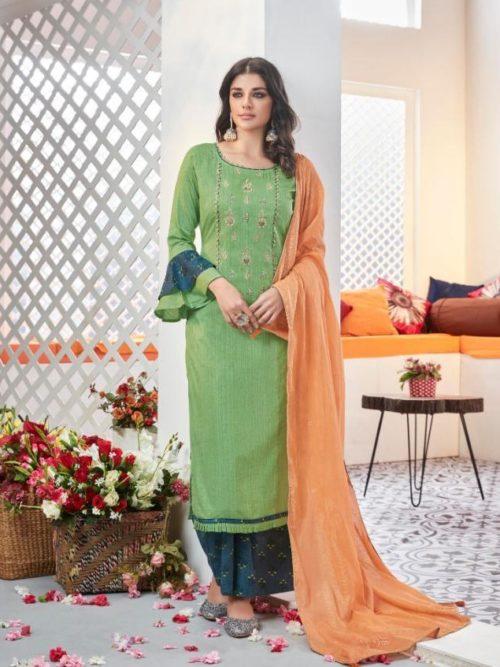 Deepsy Fairytale 2 Pure Jam Silk Cotton Print With Heavy Self Embroidery Salwar Suit 1007