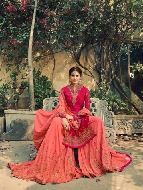 Glossy-Neisha-Satin-Georgette-Party-Wear-5040-5047-Series-Sharara-Style-Suit-10