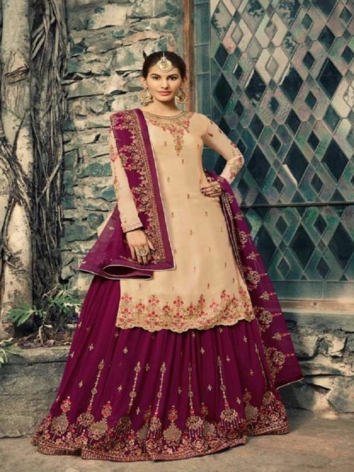 Glossy-Neisha-Satin-Georgette-With-Self-Embroidery-and-Work-Sharara-Suits-5042-764×1024
