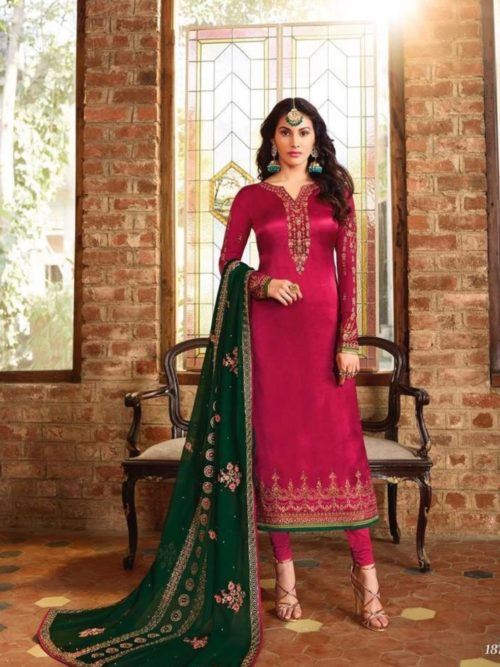 Glossy-Simar-Lajja-Satin-Georgette-With-Embroidery-and-Sarwoski-Work-Partywear-Churidar-Suit-1872-708×1024