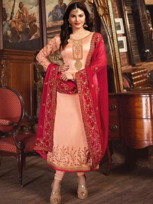 Glossy-Simar-Lajja-Satin-Georgette-With-Embroidery-and-Sarwoski-Work-Partywear-Churidar-Suits-1879-708×1024