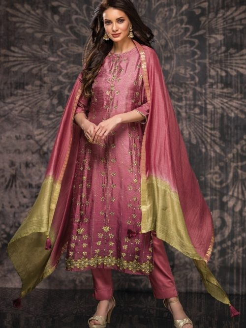 Tacfab-Presents-Naariti-Nabiha-Green-Silk-Digital-Print-With-Handwork-Salwar-Suit-2320