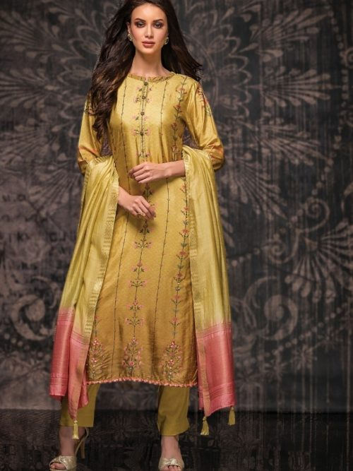 Tacfab-Presents-Naariti-Nabiha-Green-Silk-Digital-Print-With-Handwork-Salwar-Suit-2321