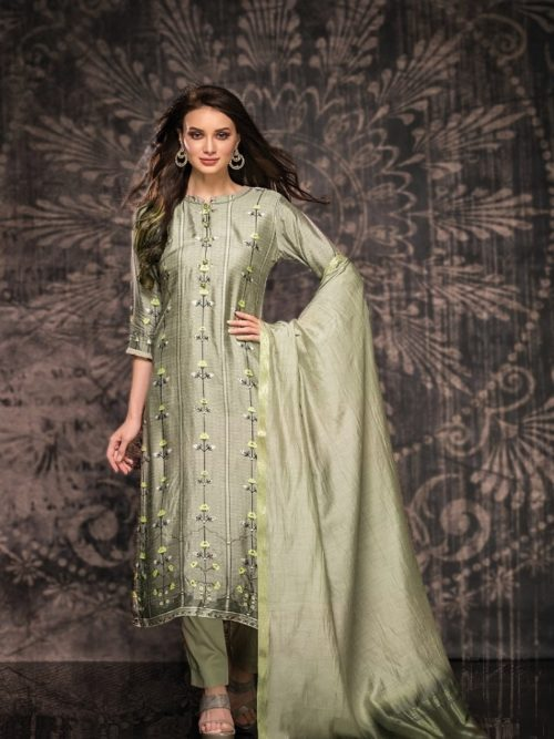Tacfab-Presents-Naariti-Nabiha-Green-Silk-Digital-Print-With-Handwork-Salwar-Suit-2326