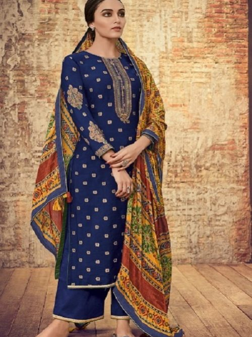 Varsha-Fashions-Presents-Patola-2-Pure-Upada-Weave-With-Embroidery-Salwar-Suit-PT-27