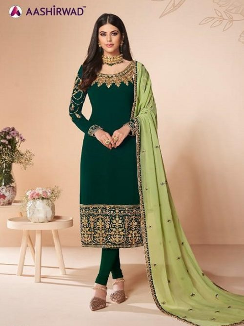 Aashirwad-Presents-Cross-Stitch-Real-Georgette-With-Embroidery-and-Work-Designer-Suit-7058