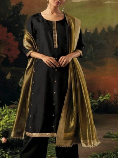 Ganga-Presents-Aani-Bemberg-Silk-Solid-With-Heavy-Embroidery-and-Jari-Lace-Border-Salwar-Suit-8316