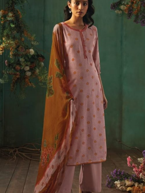 Ganga-Presents-Emerald-Flower-Collection-Pure-Wool-Dobby-Printed-With-Embroidery-Salwar-Suits-8201