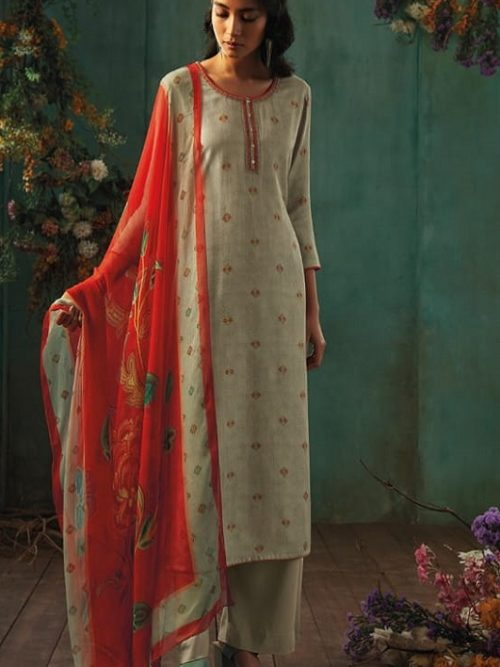 Ganga-Presents-Emerald-Flower-Collection-Pure-Wool-Dobby-Printed-With-Embroidery-Salwar-Suits-8202