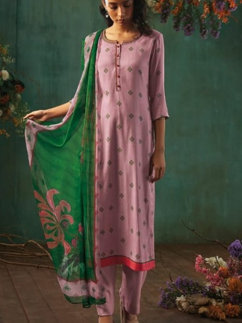 Ganga-Presents-Emerald-Flower-Collection-Pure-Wool-Dobby-Printed-With-Embroidery-Salwar-Suits-8203