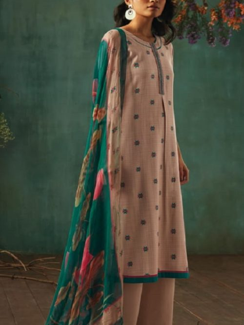 Ganga-Presents-Emerald-Flower-Collection-Pure-Wool-Dobby-Printed-With-Embroidery-Salwar-Suits-8206