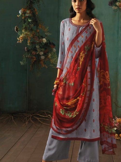 Ganga-Presents-Emerald-Flower-Collection-Pure-Wool-Dobby-Printed-With-Embroidery-Salwar-Suits-8208