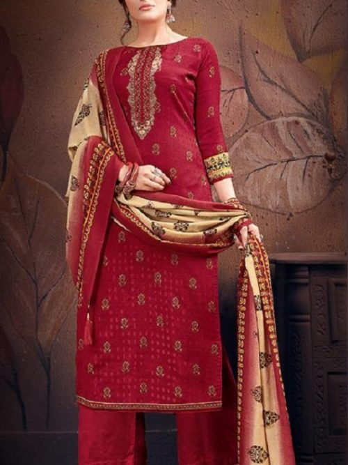 Supriya-Fashion-Presents-Silver-Pearls-Pure-Wollen-Pashmina-Print-And-Embroidery-Work-Salwar-Suits-1001