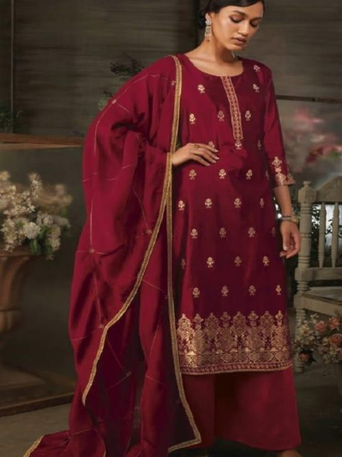 Ganga-Presents-Ayana-Pure-Silk-Jacquard-Extra-Sleeves-With-Embroidery-Salwar-Suit-7951