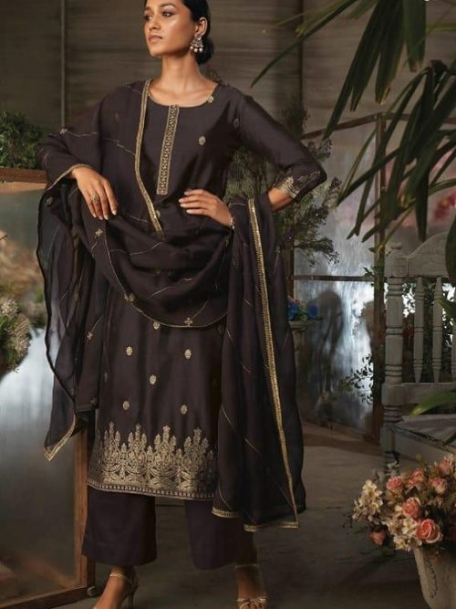 Ganga-Presents-Ayana-Pure-Silk-Jacquard-Extra-Sleeves-With-Embroidery-Salwar-Suit-7952