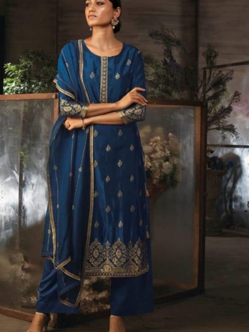 Ganga-Presents-Ayana-Pure-Silk-Jacquard-Extra-Sleeves-With-Embroidery-Salwar-Suit-7953