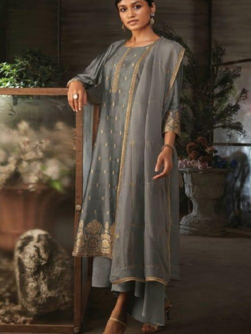 Ganga-Presents-Ayana-Pure-Silk-Jacquard-Extra-Sleeves-With-Embroidery-Salwar-Suit-7955