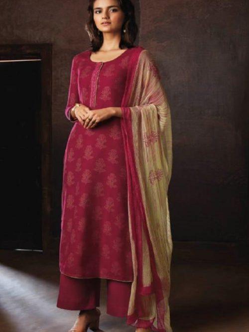 Ganga-Presents-Ravish-Wool-Dobby-Printed-With-Embroidered-and-Swarovski-Work-Salwar-Suit-8235