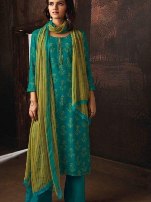 Ganga-Presents-Ravish-Wool-Dobby-Printed-With-Embroidered-and-Swarovski-Work-Salwar-Suits-8228