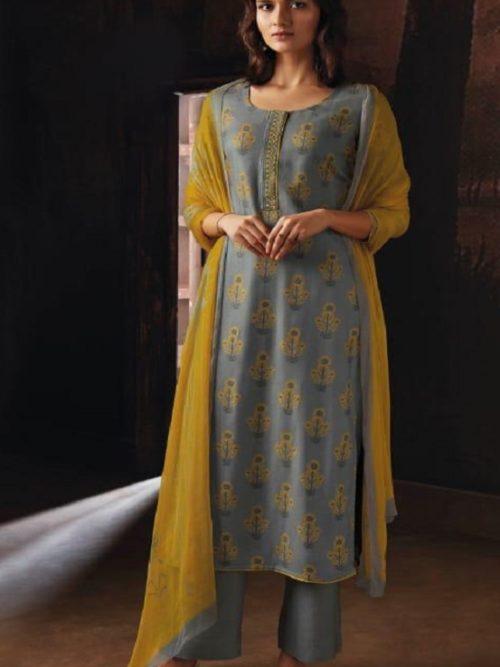 Ganga-Presents-Ravish-Wool-Dobby-Printed-With-Embroidered-and-Swarovski-Work-Salwar-Suits-8231