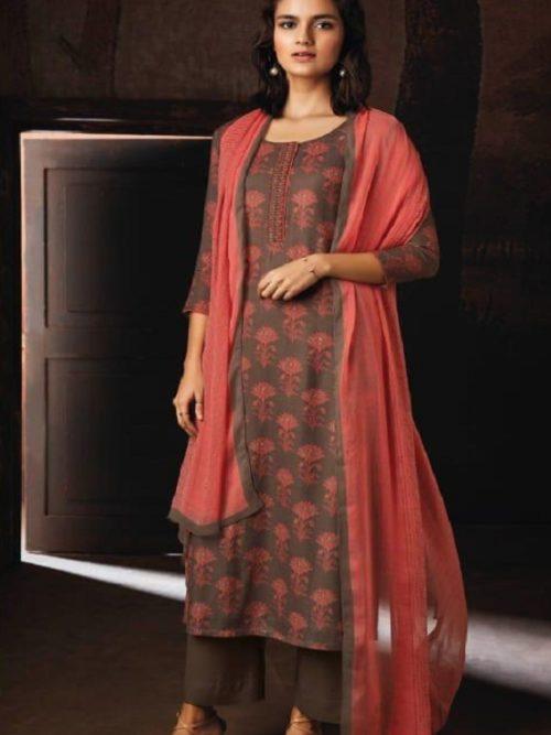 Ganga-Presents-Ravish-Wool-Dobby-Printed-With-Embroidered-and-Swarovski-Work-Salwar-Suits-8232
