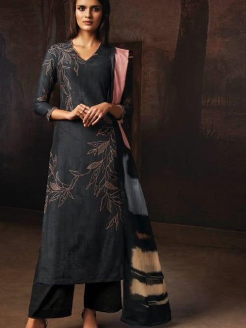 Ganga-Presents-Tvisha-Pure-Bemberg-Silk-Printed-With-Handwork-Salwar-Suit-8355
