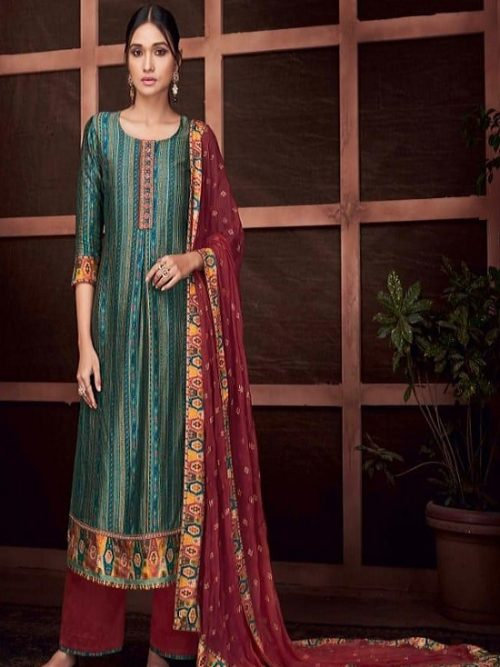 Ganga-Presents-Roots-Pure-Bemberg-Russian-Silk-Printed-With-Embroidery-and-Handwork-Salwar-Suit-8431