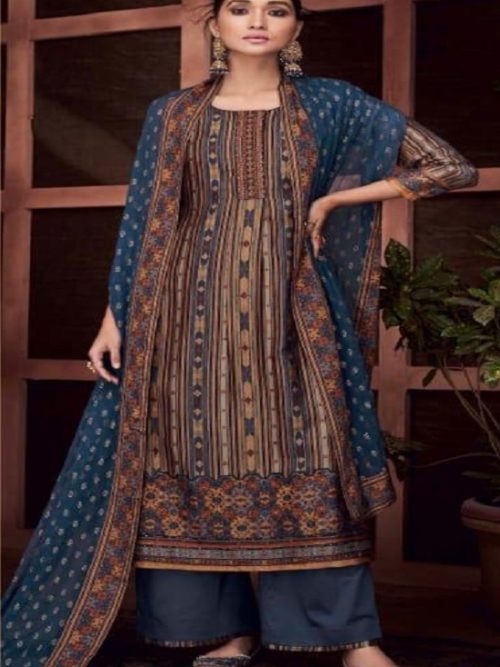 Ganga-Presents-Roots-Pure-Bemberg-Russian-Silk-Printed-With-Embroidery-and-Handwork-Salwar-Suit-8436