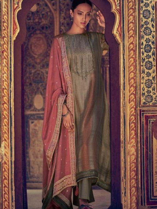 Varsha-Fashions-Presents-Navika-Pure-Tussar-Silk-Digital-With-Sadhi-Handwork-Salwar-Suit-NV-24
