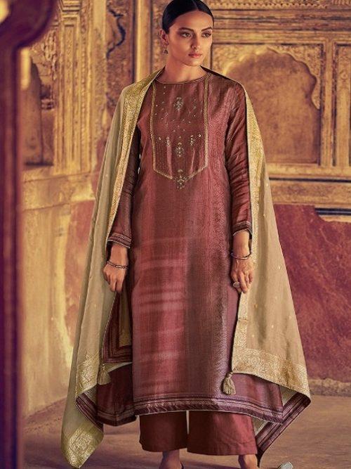 Varsha-Fashions-Presents-Navika-Pure-Tussar-Silk-Digital-With-Sadhi-Handwork-Salwar-Suit-NV-25