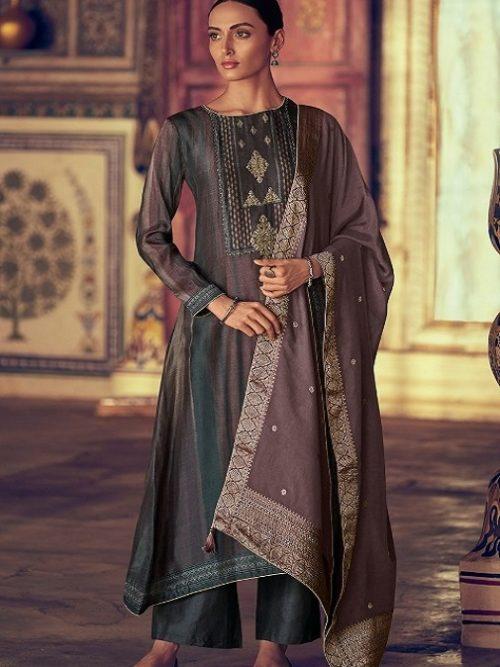 Varsha-Fashions-Presents-Navika-Pure-Tussar-Silk-Digital-With-Sadhi-Handwork-Salwar-Suit-NV-26