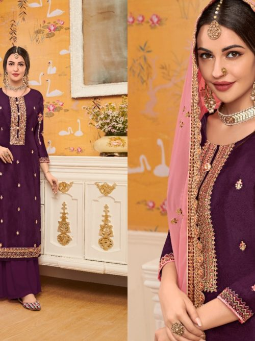 Viscose Upadda With Embroidery Work Suit D.No 1126